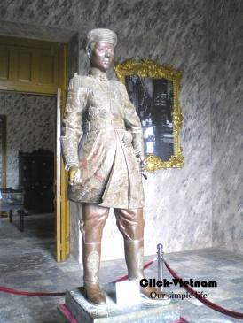 順化皇城中拍攝的保大帝